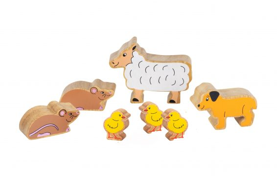 Wooden animal set for Early Sound play Bundle 5