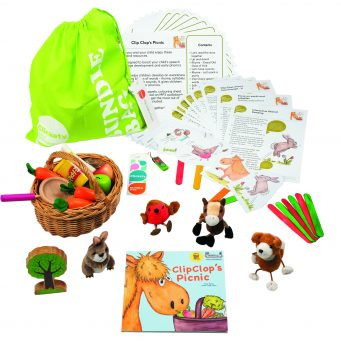 Picnic Bumper Story Bundle with wooden animals