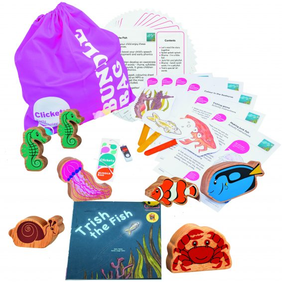 Trish the Fish Bumper Story Bundle with wooden animals