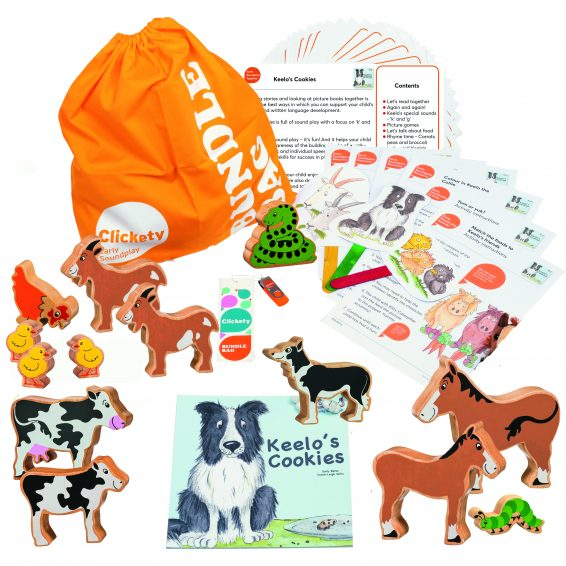 Keelo's Cookies Bumper Story Bundle with wooden animals