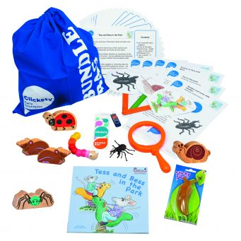 Tess and Bess Bumper Story Bundle with wooden animals